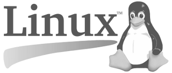 Linux Project black and white logo